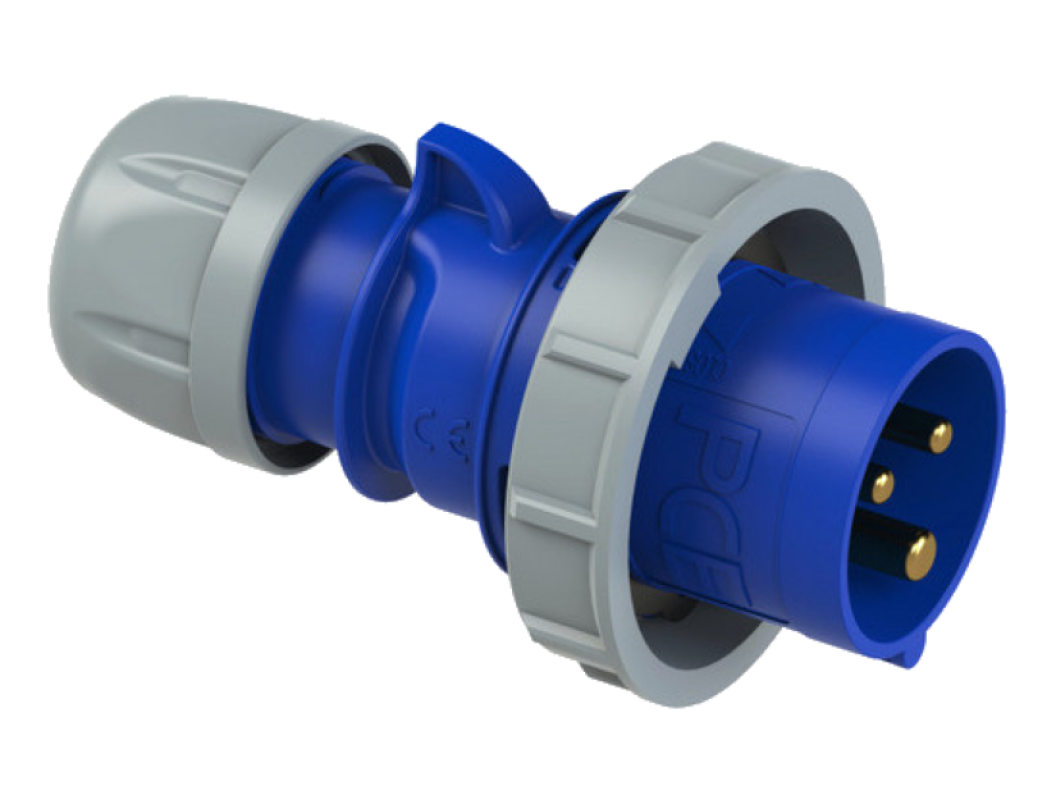 Вилка кабельная CEE 32А 230V 1P+N+E IP67 0232-6 PCE