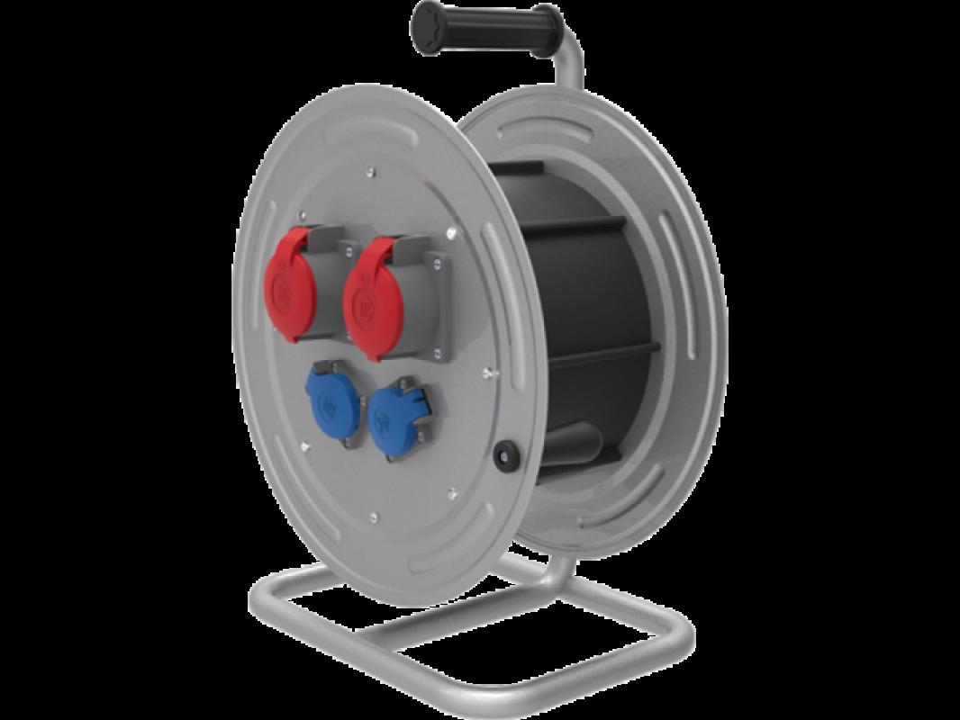 BM4 Удлинитель на металлической катушке электрический морозостойкий IP44 2x380В-16А 2x220В-16А