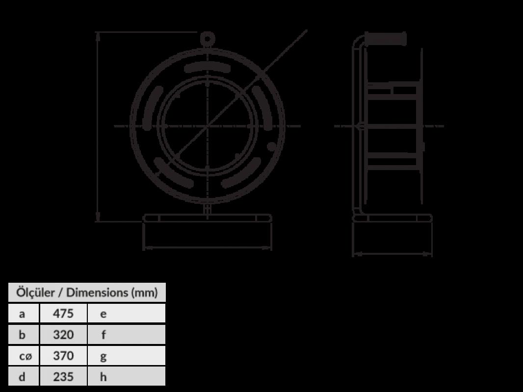 Размеры BM4 удлинитель на металлической катушке электрический морозостойкий IP44 380В 16А 220В 16А