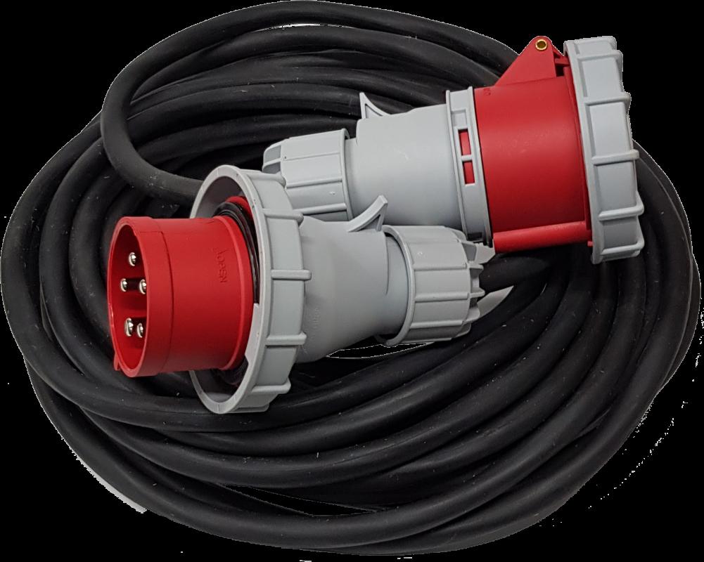 SU Удлинитель силовой электрический влагозащищенный IP67 380В 16А 32А смотка вилка-розетка