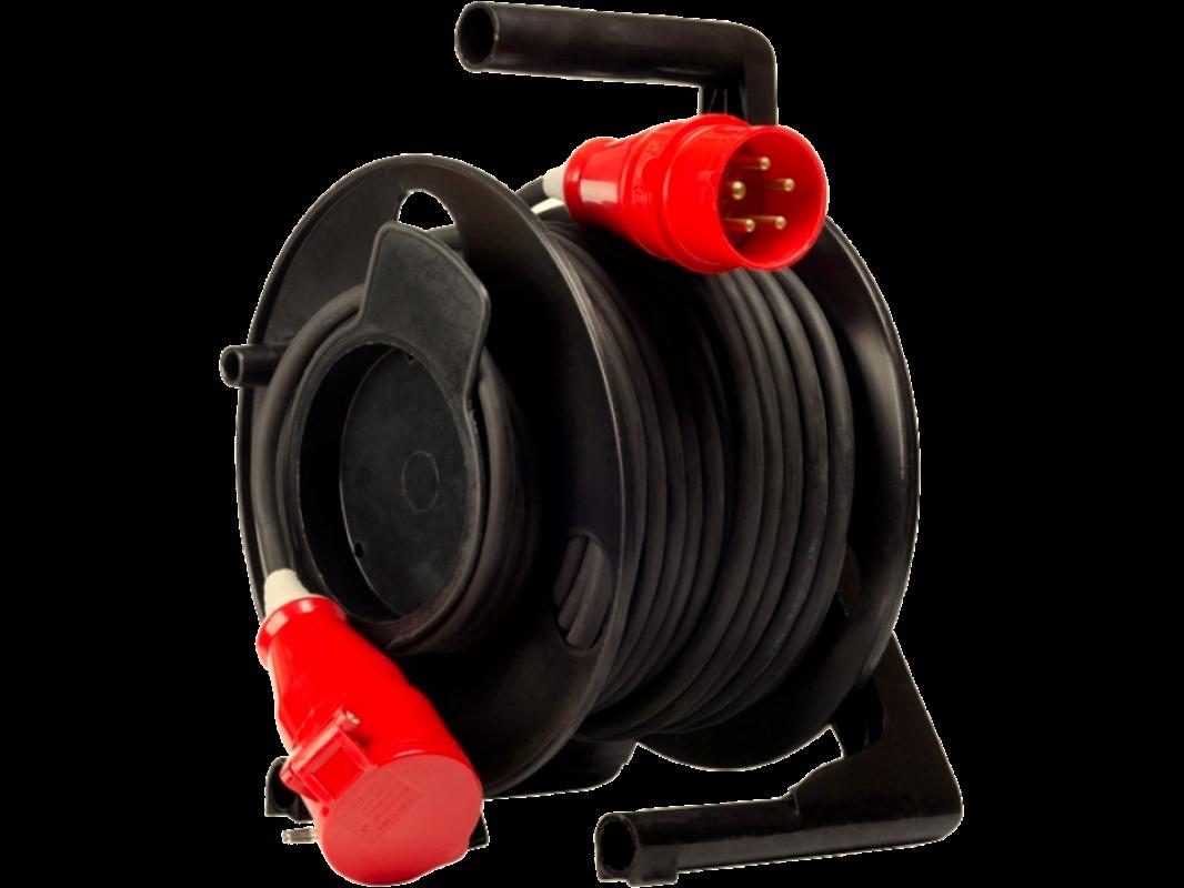 P2 Удлинитель силовой на катушке морозостойкий влагозащищенный IP44 380В вилка - розетка