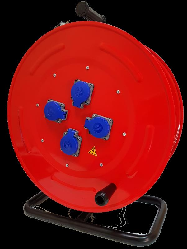 BM5 Удлинитель на катушке электрический 4 розетки IP44 220В 16А 70м - 110м