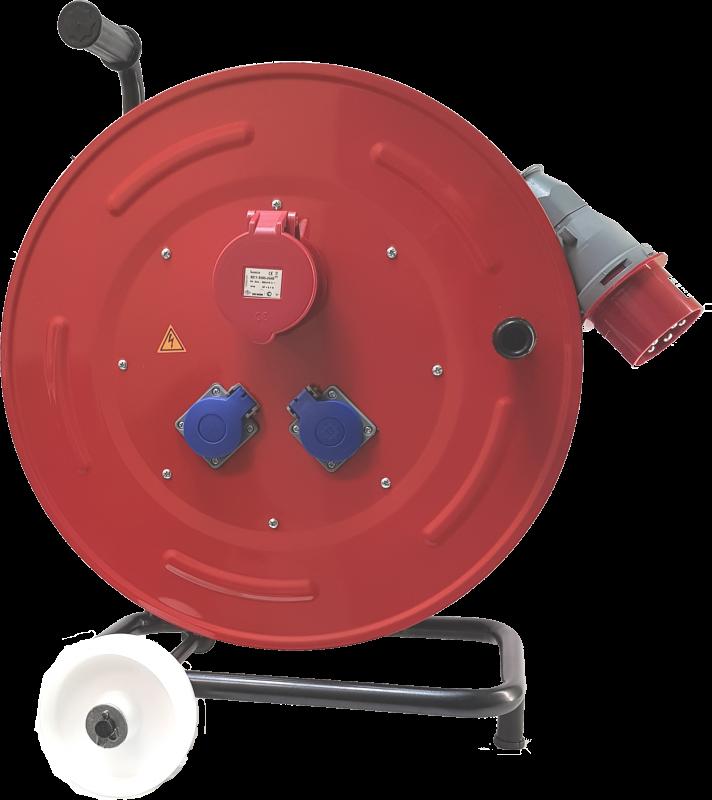 BM6 Удлинитель электрический на металлической катушке с колесами IP44 1х380В CEE 32А 2х220В EURO 16А