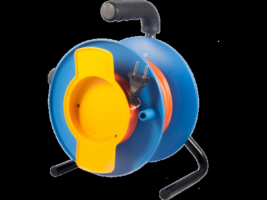 Электрический удлинитель на пластиковой катушке с металлической стойкой 220В IP20 У1С-1 УС-1