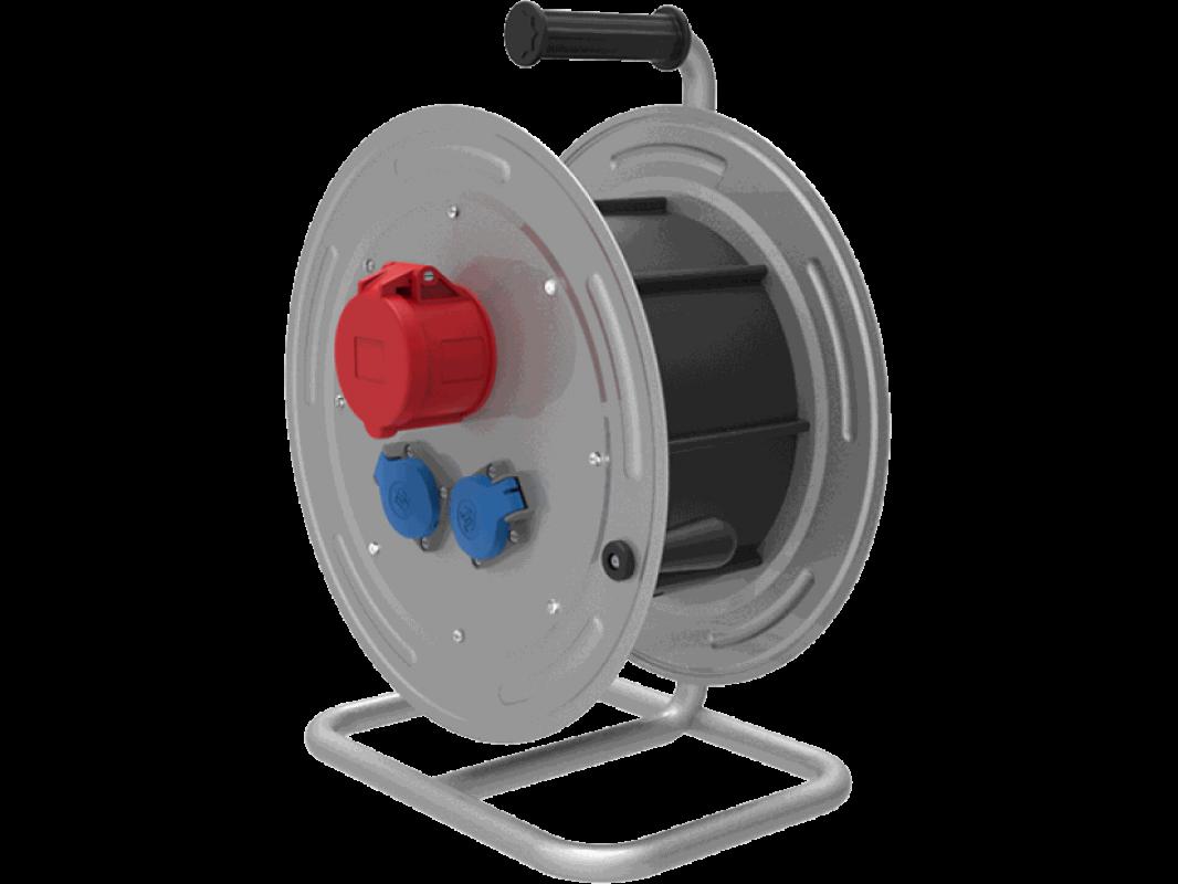 BM4 Удлинитель электрический на металлической катушке 10 м - 50 м морозостойкий влагозащищенный IP44  380В 32А 220В 16А