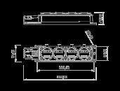 Колодка удлинителя на 4 розетки переносная каучуковая 220В 16А 2P+E IP44 влагозащищенная размер