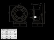 M2 Удлинитель электрический силовой на металлической катушке морозостойкий с защитой от перезрузки 4 розетки 220В 16А размеры удлинителя