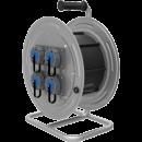 BM4 Удлинитель электрический на металлической катушке IP67 4х(220В 16А)
