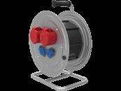 BM4 Удлинитель электрический на металлической катушке IP44 2х(380В 32А) 2х(220В 16А)