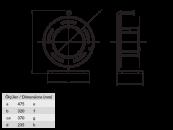 BM4 Удлинитель на металлической катушке хладостойкий электрический IP44 220В 16А 1 розетка
