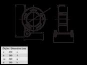 BM6 Удлинитель на металлической катушке с колесами 1х380В 63A 2х220В 16А 32А