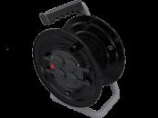 M9 Удлинитель на пластиковой катушке электрический 4 розетки с термоавтоматом 220В 16А IP44