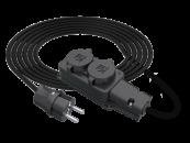 SU Удлинитель силовой смотка электрический морозостойкий IP44 220В с колодкой на 2 розетки