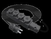 SU Удлинитель силовой смотка электрический морозостойкий IP44 220В с колодкой на 4 розетки