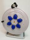 BM4 Удлинитель на металлической катушке морозостойкий электрический IP44 220В 16А 6 розеток