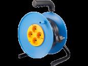 P1 Электрический удлинитель на пластиковой катушке с металлической стойкой 4х220В IP20 У1С-4 УС-4
