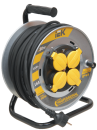 IEK Professional удлинитель на металлической катушке морозостойкий влагозащищенный IP44 220В 16А 4 розетки