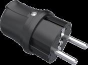 Вилка удлинителя переносная 220В 16А 2P+⏚ IP44 влагозащищенная